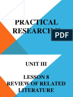 Unit 3 - Lesson 8 Review of Related Literature