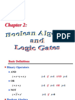 Chapter 2 Boolean Algebra & Logic Gates
