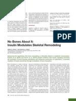 Insulin Modulates Skeletal Remodeling