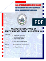 Informe Estrategia de Mantenimiento Industria g