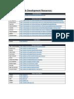 Web Resources Tools