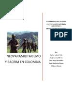 Neoparamilitarismo y Bacrim en Colombia.