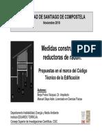 Medidas constructivas reductoras de radón. Propuestas en el marco del Código Técnico de la Edificación (CTE).
