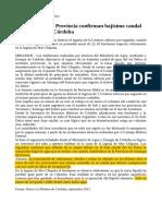 Articulo Mediciones de La Provincia Confirman Bajisimo Caudal Del Rio Dulce en Cordoba