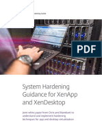 System Hardening for Xenapp and Xendesktop