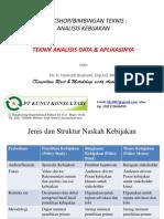 Teknis Analisis Data Utk Evaluasi Kebijakan Utk Balitbangda Jambi