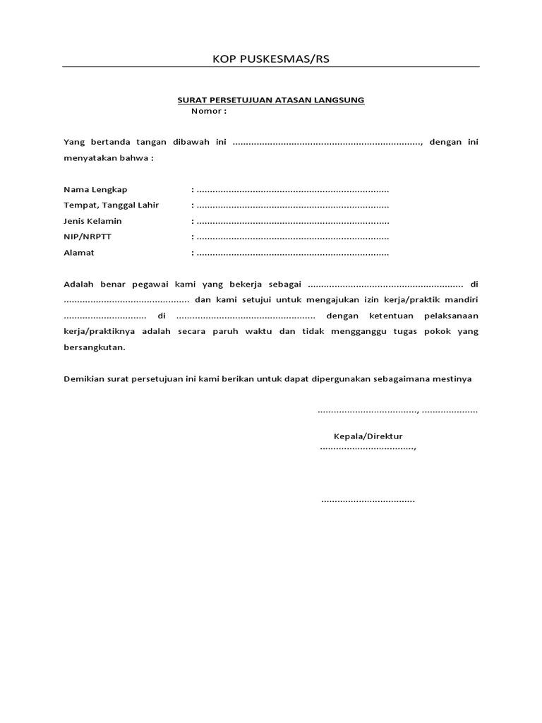 Contoh Surat Keterangan Jadwal Praktik Apoteker Kumpulan
