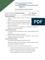 Modulo 4 AF 3 La Planeacion Materialidad y Riesgo de Auditoria