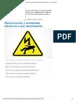 Electrocución y Accidentes