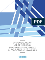 WHO Guidelines on Use of Medically Important Antimicrobials in Food-producing Animals