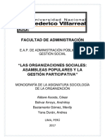 Monografia Asambleas Populares y Gestion Participativa