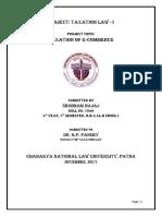 Tax Law - I