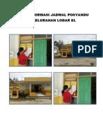 Akses Informasi Jadwal Posyandu Di Kelurahan Lodar El