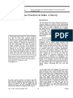 Corporate Finance Practices in India-A Survey