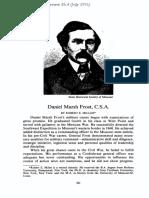 Daniel Marsh Frost, CSA [Missouri Historical Review 85.4 (July 1991)]