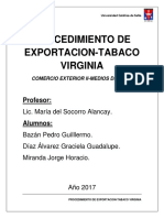 Exportacion Tabaco Virginia