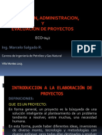 Elaboracion, Administracion y Evaluacion de Proyectos