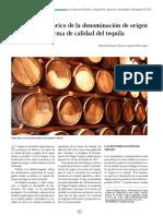 Panorama Histórico de La Denominación de Origen y La Norma de Calidad Del Tequila