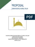 Panitia Renovasi Mushola Nurul Falah