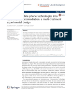 Integrating Mobile Phone Technologies Into Labor-market Intermediation- A Multi-treatment Experimental Design