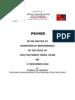 Primer Sulu Assertion of Independence Last Ed Selangor 10 August