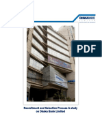 Recruitment and Selection Process A study on Dhaka Bank Limited