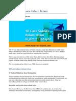 10 Cara Sukses Dalam Islam