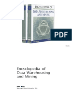 Encyclopedia of Data Warehousing and Mining 2006