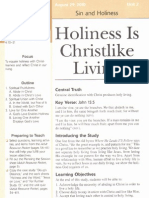 August 29 Holiness is Christlike Living