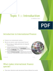 Introduction to International Finance