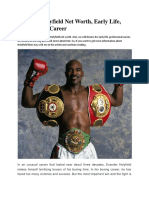 Evander Holyfield Net Worth, Early Life, Professional Career