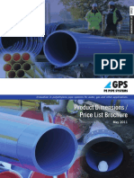 GPS PE Pipe Systems Dimensions