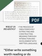 Intro to Reading
