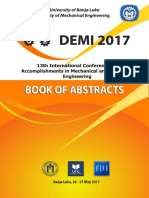 Book of Abstract - DeMII 2017