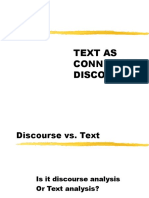 Text as Connected Discourse