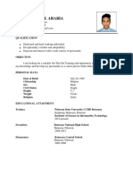 Ojt Resume ( Sample