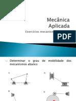 Mecânica Aplicada-Lista Mecanismos e Cames