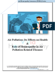EFFECTS OF AIR POLLUTION ON HEALTH AND ROLE OF HOMEOPATHY