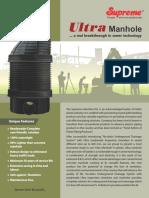 14 Ultra Manhole for Underground Sewerage System