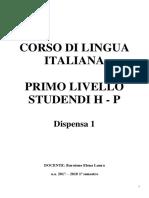 Lingua Italiana i Livello-studenti