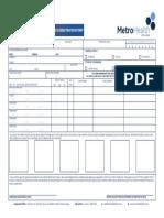 Metro health application form