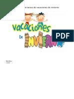 Cuadernillo de Tareas de Vacaciones de Invierno