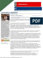 Artículo Prematuros. Antonio Escudero