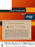 Canto Gregoriano Kyrie