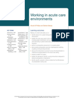 Working in Acute Care