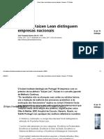 Prémios Kaizen Lean Distinguem Empresas Nacionais - Economia - RTP Notícias