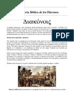 La Historia Bíblica de Los Diáconos