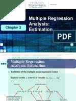 3 Multiple Regression Analysis Estimation