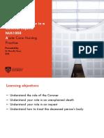 Coroners Case - Role of the Nurse