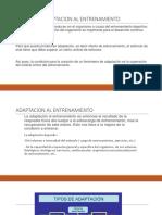 Adaptacion Al Entrenamiento